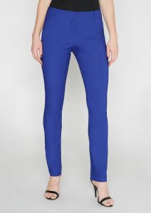 Alloy Apparel Gianna Dressy Skinny Pant in Royal Blue
